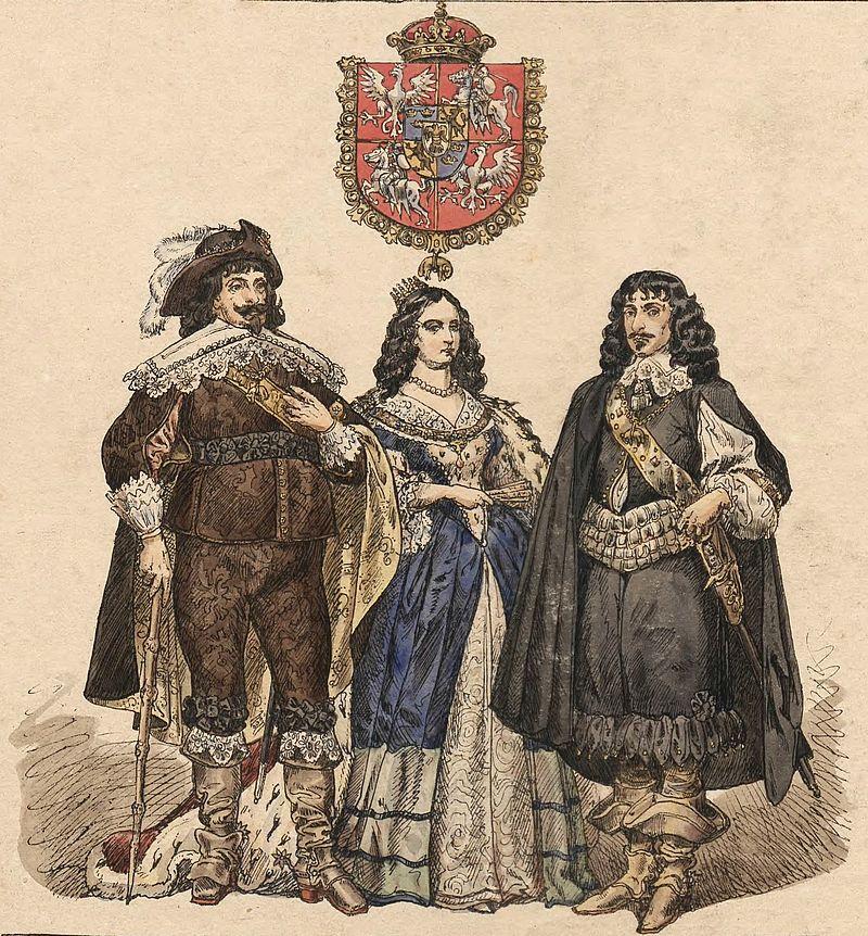 Władysław IV Waza z żoną Cecylią i bratem Kazimierzem, Jan Matejko 1860 r./ źródło: wikipedia.pl