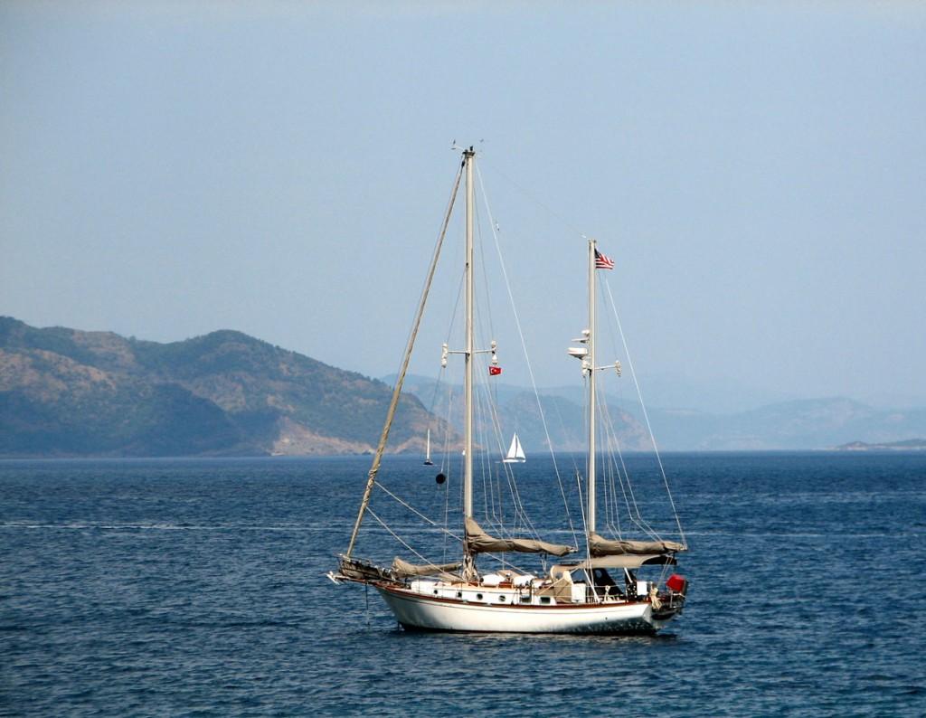 Żaglówka na morzu Egejskim/ foto: Danuta Baranowska