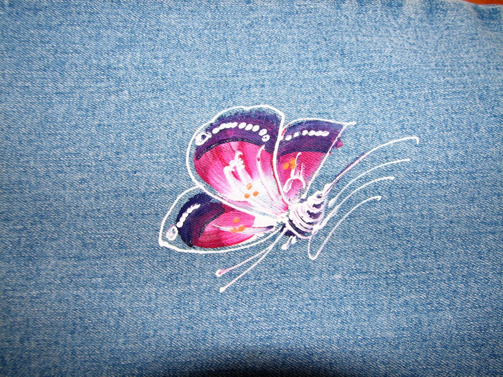 motyl na spodniach