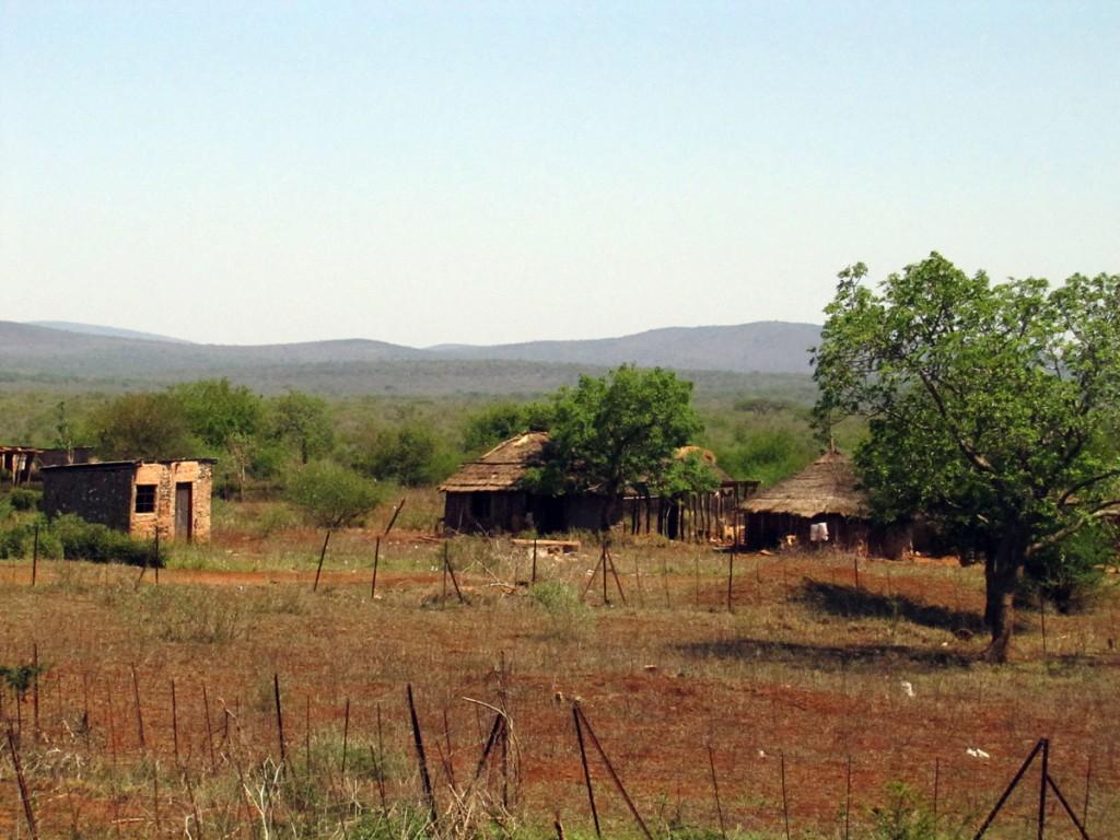 wioska przy drodze