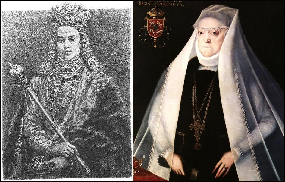 Anna Jagiellonka wg J. Matejki i M. Krober/ źródło: Wikipedia