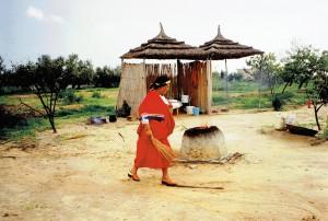 Zamira przy piecu chlebowym