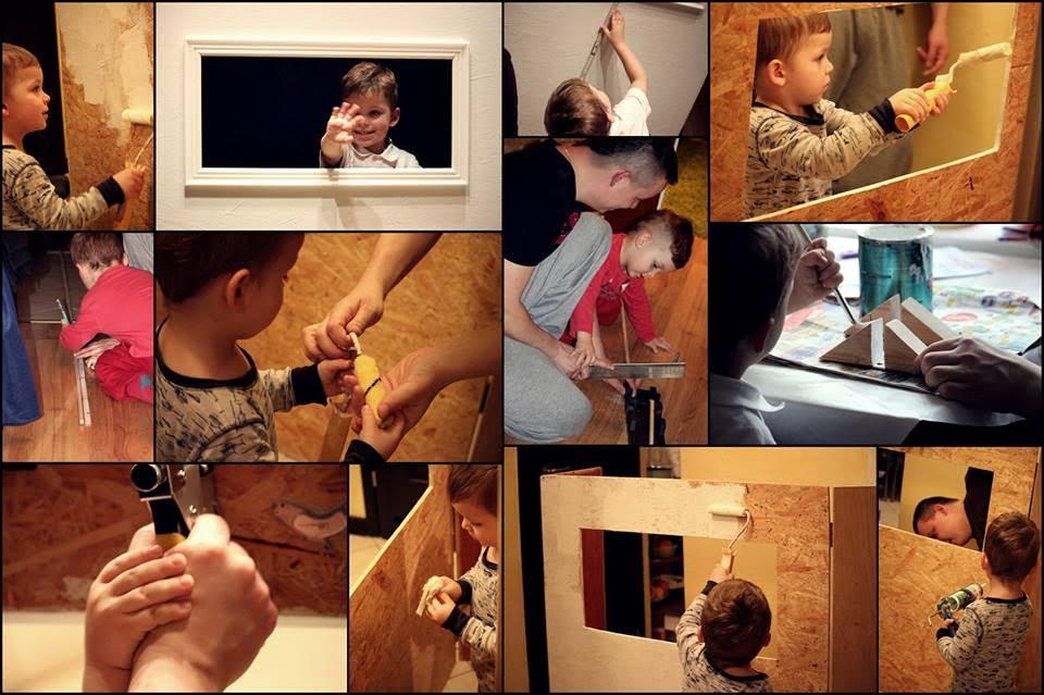 Rodzinne budowanie Teatrzyku