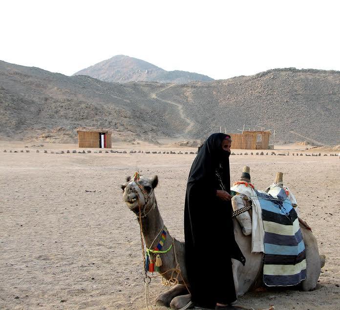 Beduinka z wielbłądem
