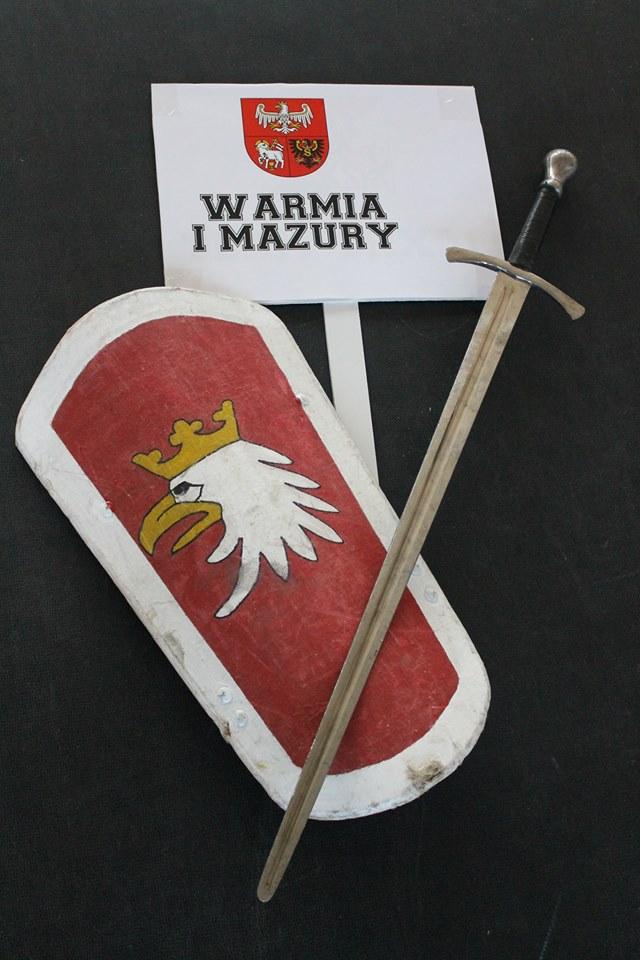 Ekwipunek zawodnika reprezentacji Warmii i Mazur