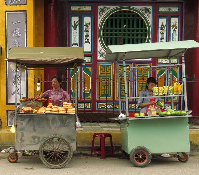 Słodkości sprzedawane na ulicy