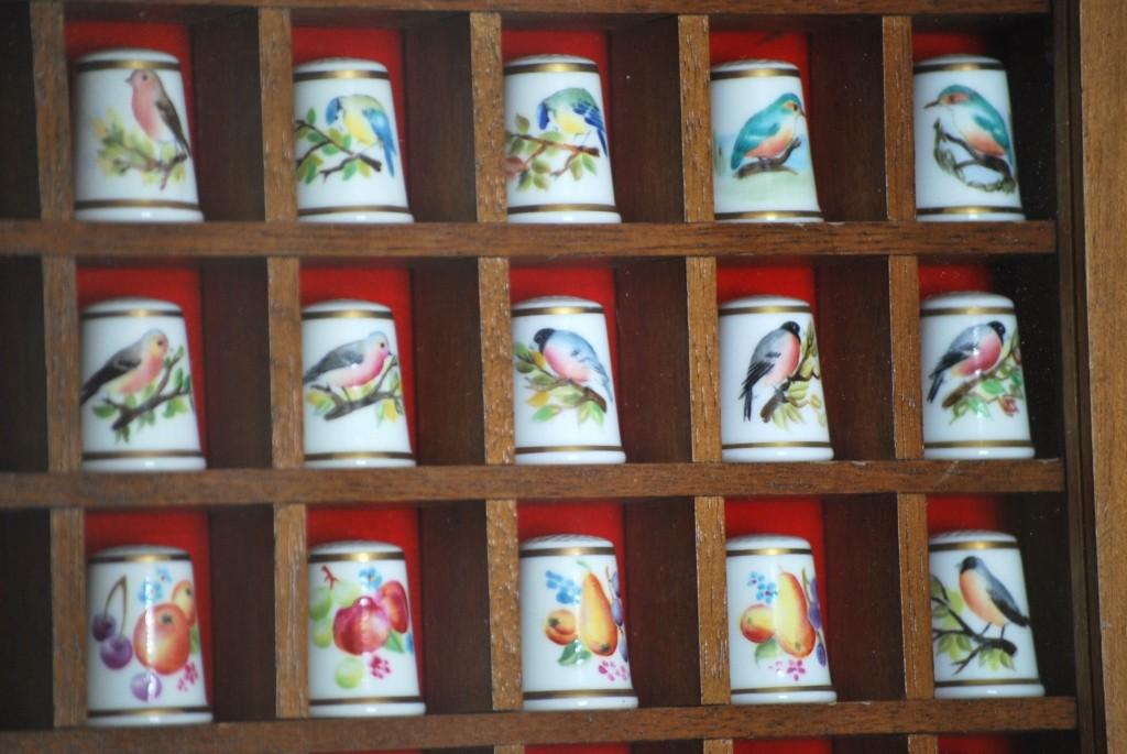 Kolekcja malowanych ptaków