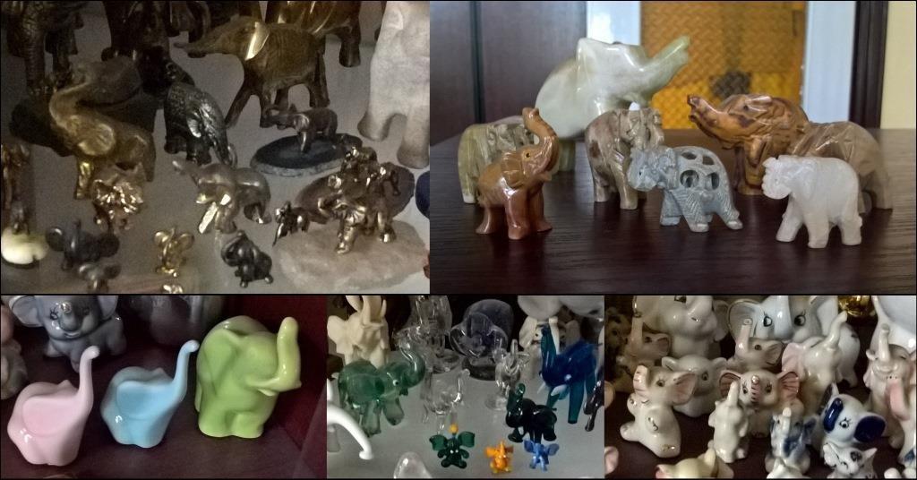 Metal, kamień, ceramika, szkło... to najpopularniejsze materiały do wykonania figurek słoni