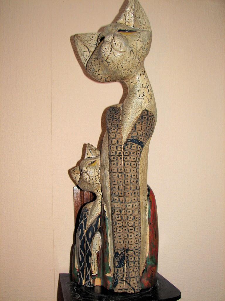 kotka z kociakiem z Jawy