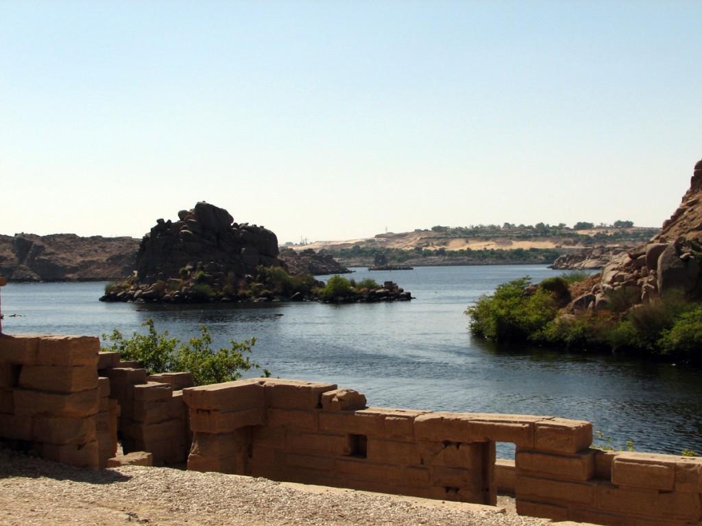 Widok na Nil z wyspy File