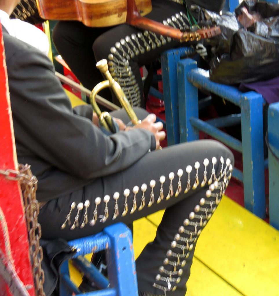 ozdoby na spodniach mariachi
