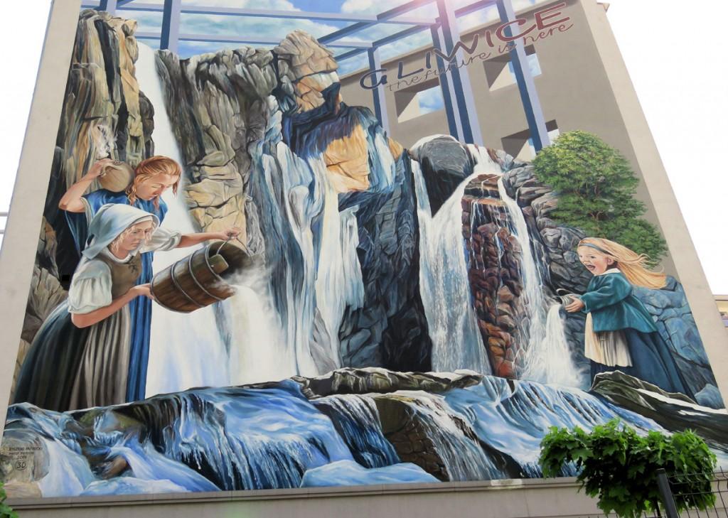 mural ze gliwicką legendą