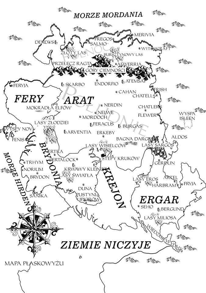 Świat Płaskowyżu - mapa autorstwa Łukasza Banacha