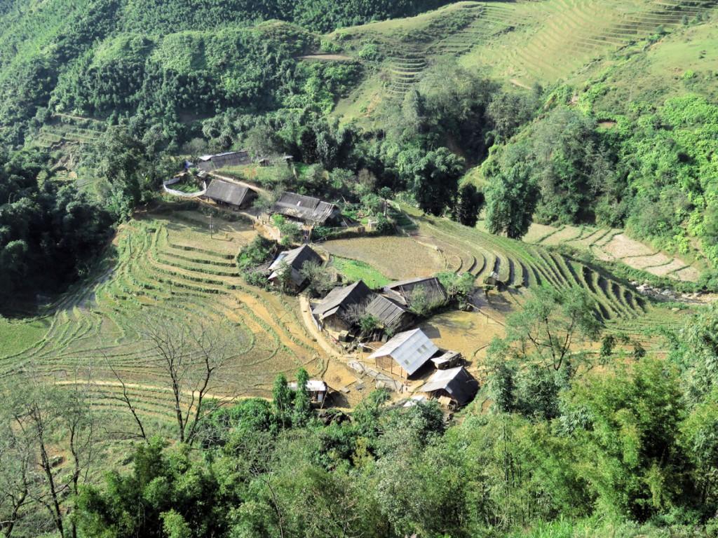 widok ogólny na wieś