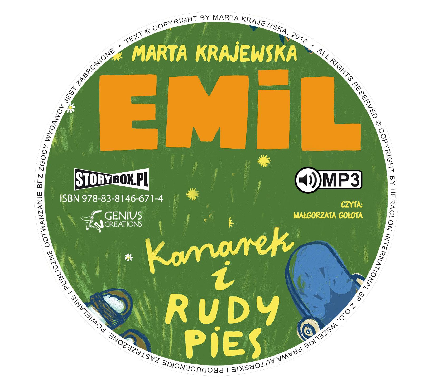 """POCZYTAJ MI NA UCHO: """"Emil, kanarek i rudy pies"""",M. Krajewska - recenzja audiobooka"""
